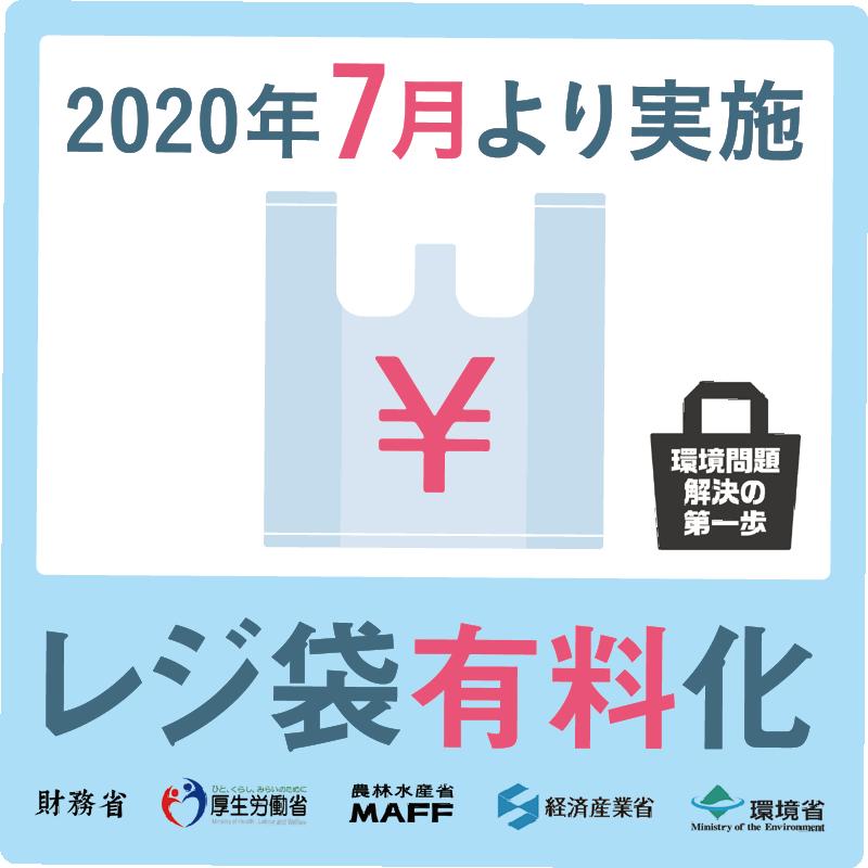 2020年7月より実施 レジ袋有料化